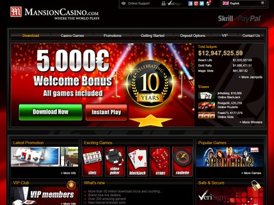 mansion casino live chat